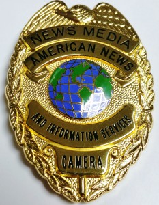 The official badge of American News Camera Journalists